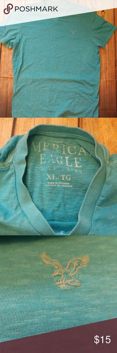 Mens blue American Eagle V-Neck Good condition size XL. Can bundle with other mens items to save. Shirts Tees - Short Sleeve