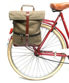 f7e3d4bc87b Klist bicycle pannier canvas bike bag for laptops by BikeBelleCom Commute  To Work