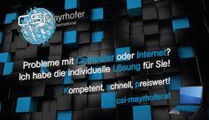 Probleme mit Computer oder Internet? Ich habe die individuelle Lösung für Sie! Kompetent, schnell, preiswert! Besuchen Sie www.csi-mayrhofer.at auf verschiedenen Endgeräten #PC, #Notebook, #Tablet, #Smartphone,... Schauen Sie. Lesen Sie. Verschaffen Sie sich einen Überblick. csi-mayrhofer.at Computer, Tech Companies, Smartphone, Company Logo, Internet, Logos, Logo