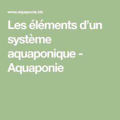 Les éléments d'un système aquaponique - Aquaponie