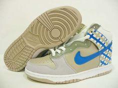 Nike Dunk High Crisp Khaki White Beige Medium Blue