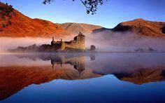 Castillo Kilchurn, junto al Lago Awe, en Escocia