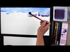 Preview Seascape Watercolor Painting with Vinita Pappas and http://ArtistsNetwork.tv here for tips on wet in wet skies, edges on waves, and colorful, varied background trees. Access the full-length video here: http://ArtistsNetwork.tv