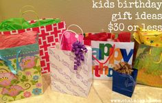 kids birthday gift ideas $30 or less
