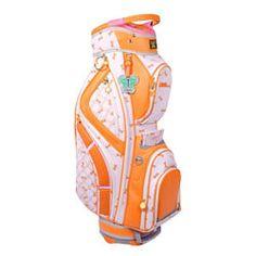 LilyBeth Orange Dragonfly Women's Golf Bag