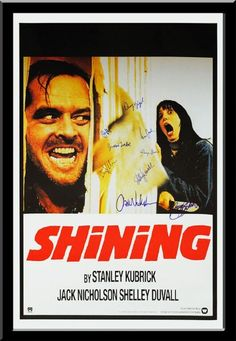 The Shining - Signed Movie Poster in Wood Frame with COA
