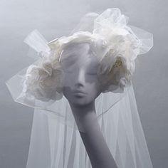 Stephen Jones 'Love' Stephen Jones, Headdress, Veil, Couture, Crown, Sculpture, Statue, Headpieces, Stylish