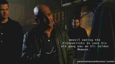 Weevil owning the Fitzpatricks to save the old gang was an Eli Golden Moment. // Veronica Mars Confessions