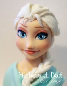 Elsa's Frozen face and link for tutorial ♥ - Cake by Michela di Bari
