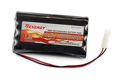 Tenergy 9.6V 2000mAh NiMH High Capacity Battery Pack for RC Cars, boats, Robots, Security - Features and Benefits * 9.6 V 2000 mAh NMH high capacity RC car battery pack * Made with 8xAA 2000mAh TENERGY high capacity and high power NiMH Batteries. * Advnaced NiMH battery technology, no battery memory effect. * Easy operation, battery can be charged anytime without the need to fully disch...