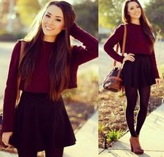 Cute outfit and I love the hair color