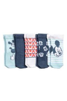 5-pack socks - Dark blue/Mickey Mouse - Kids | H&M GB