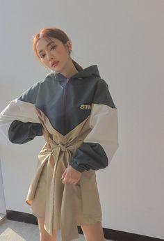 Self-Tie Waist Zip-Up Hoodie Dress   STYLENANDA @achipx