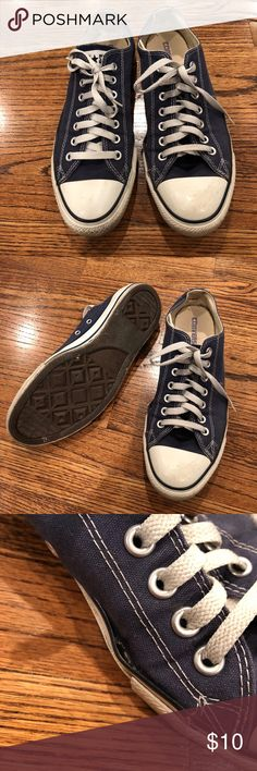 Converse all star Used condition. Converse all star. Navy. Only flaw, left shoe needs glue. Size 9.5 men's. Converse Shoes Sneakers