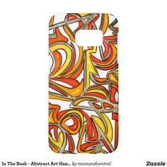 In The Bush - Abstract Expressionism Samsung Galaxy S7 Case with Hand Painted Art in Bold Red, Orange, Yellow and Black