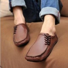 Genuine Leather Casual Shoes Men Flats Oxford Shoes For Men Moccasin Driving Shoes Man Sock Shoes, Men's Shoes, Shoe Boots, Dress Shoes, Men Boots, Shoes Men, Flat Shoes, Oxford Shoes, Driving Moccasins