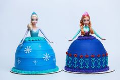 Frozen Princess Cakes from Nerdy Nummies!