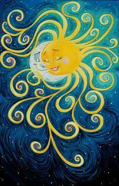 sun and moon art - Google Search