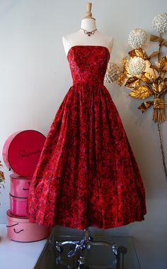 1950's silk couture gown at Xtabay, Portland OR