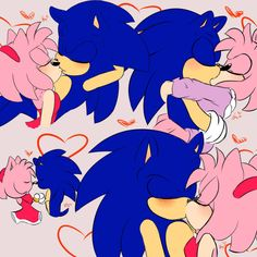 SonAmy Kisses by OkieRose Amy Rose, Sonic The Hedgehog, Shadow The Hedgehog, Sonamy Comic, Sonic Underground, Sonic And Amy, Sonic Fan Characters, Rose Pictures, Sonic Fan Art