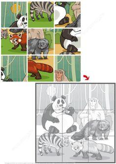 Jigsaw Puzzle with Wild Animals