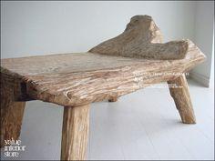 1円 プリミティブオールドチークベンチI 一枚板 天然 椅子 無垢 北欧 インテリア 雑貨 家具 Modern modern chairs ¥20000yen 〆05月06日
