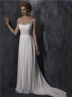 142.89 auroraldress.com SUPPLIES Elegant A-Line Scoop Floor-Length Beach Wedding Dress With Beading