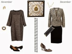 Capsule wardrobe inspiration - Wearing Hermes Les Clef Silk Scarf All Year - July through December | The Vivienne Files