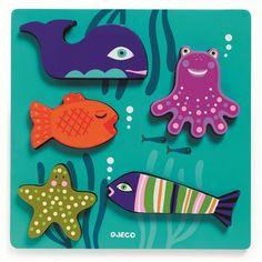 Djeco Holzpuzzle Sea Animals