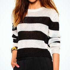 """Rachel Zoe Striped Linen Top Amazing Rachel Zoe Striped Linen Top. Crop top hits at waist. So comfortable and is great piece for layering! Size P (fits XS/S)Crew neck, Long sleeves with ribbed cuffs, Approx. 19"""" length, 100% linen. Rachel Zoe Tops"""