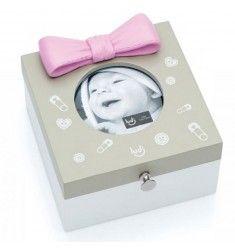 Caixa Porta Retrato - Laço Rosa