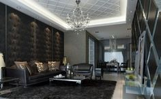 Different Living Room: Two Elements into One: Dark Living Room Feature Elegant East Living Room Design Leather Sofa ~ sabpa.com Living Room Designs Inspiration
