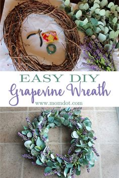 """Easy DIY Grapevine Wreath. Whether someone sees this wreath while driving by or approaching your door, I'm certain they'll wonder: """"Where did she get that wreath, and how can I get one of my very own?!"""""""