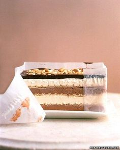 Black-and-White Peanut Bar Ice Cream Cake Recipe