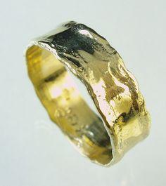 gold ringRecycled gold Wedding Band Man Wedding Band by Avinoo, $200.00