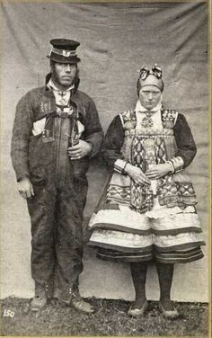 Bride and groom from Setesdal, Aust-Agder County in Norway, n.d. Photo by  fotograf Knud Knudsen (1832-1915)