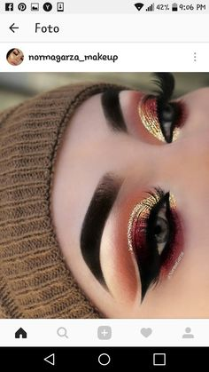 This make-up trend is the easiest way to update your look. Excellent idea for eye make-up # Eye Makeup Tips, Makeup Goals, Makeup Trends, Makeup Inspo, Skin Makeup, Eyeshadow Makeup, Eyeliner, Eyeshadows, Makeup Kit