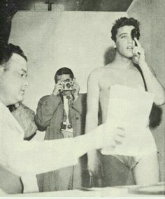 Elvis undergoing a physical at Kennedy Veterans hospital