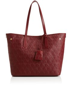 Liberty London Oxblood Iphis Leather Little Marlborough Small Tote Bag