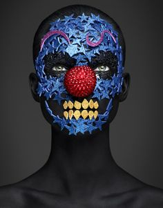 A gorgeous beauty editorial by Rankin and Hunger's Beauty Editor Andrew Gallimore! The pair once again teamed up for a new take on death masks this time more directed towards the Mexican Day of the Dead festival: Dia de Los Muertos.