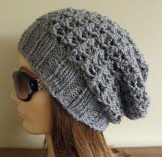 PDF Knitting Pattern  Knit Slouchy Hat / by JennokayKnitCreation, $4.95