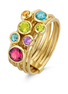 Colors geelgouden ring
