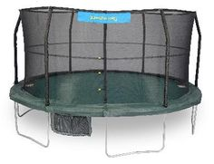 JUMPKING 15'  TRAMPOLINE 6 LEGS,6 POLES, 96 SPRINGS WITH GREEN/BLACK JUMPING…