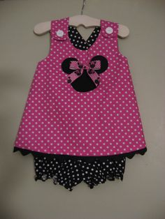 Toddler Minnie Mouse dress by izziestyle on Etsy, $35.00