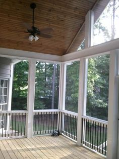 Low Maintenance Screened Porch With Azek Building