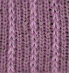 Three x One Slip Stitch Rib - Knittingfool Stitch Detail