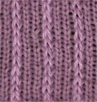 Three x One Slip Stitch Rib - Knittingfool Stitch Detail