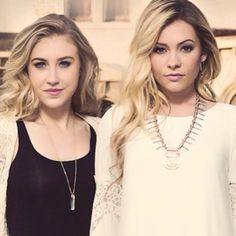 Maddie and Tae young country duo.  Taylor Dye is from Ada, OK. Maddie's a Texas girl!