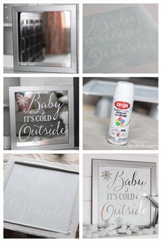 This easy DIY mirror art can be customized for anything! Super easy and fun to make. Mirror Crafts, Mirror Art, Diy Mirror, Etched Mirror, Sunburst Mirror, Old Window Crafts, Wall Mirrors, Mirror Ideas, Etched Glass