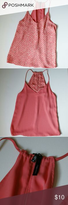 Reversible tank! Reversible flowy tank. Worn once. coral color Maurice's Tops Tank Tops